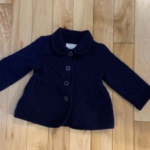 Quilted Navy lightweight Jacket.